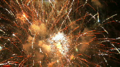 Fireworks Finale Exploding in Night Sky, Firework Celebration Stock Footage