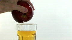 Juice from the apple Stock Footage