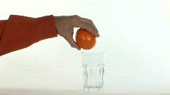 Fresh squeezed orange juice 1 Stock Footage