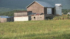 Barn on a Farm in the Countryside Stock Footage
