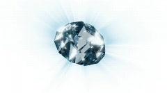 Diamond rotating xyz,looping Stock Footage