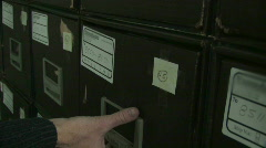 Pulling File From Cabinet Stock Footage