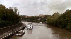 River ship Stock Footage