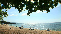 Three Tables Beach at Pupukea Beach Park in Oahu, Hawaii - Hawaiian Beach Stock Footage