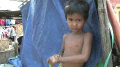 Cambodia: Poor kids Stock Footage