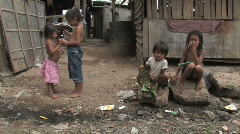 Cambodia: Children in the slums - stock footage