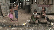 Stock Video of Cambodia: Children in the slums Stock Footage
