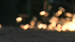 Sparks Falling 1 - stock footage