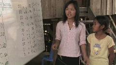 Cambodia: Literacy school Stock Footage