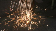 Sparks Falling 2 Stock Footage