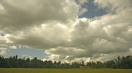 Stock Video Footage of barn and feild with clouds