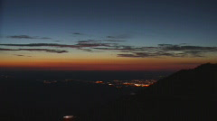 Sunrise time lapse from Pikes Peak  Stock Footage