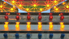 Carnival Lights Flashing at County Fair Stock Footage