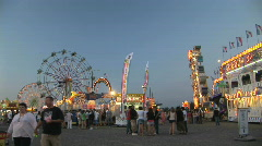Carnival Midway and Rides, Clark County Fair - time lapse Stock Footage