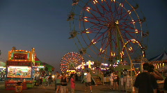 Carnival Midway and Rides at Night, time lapse - stock footage