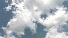 Time Lapse Crisp Blue Clouds Stock Footage