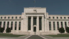 United States Federal Reserve building in DC - stock footage