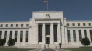 United States Federal Reserve building in DC Stock Footage