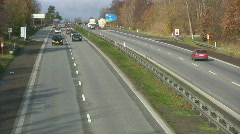 Time lapse of freeway traffic between Copenhagen and Elsinore Stock Footage