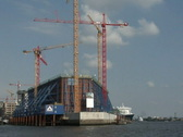 Stock Video Footage of Elbphilharmonie Hamburg construction site