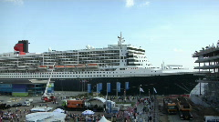 RMS Queen Mary 2 Stock Footage