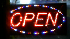 OPEN sign. Stock Footage