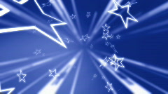 Blue star background Stock Footage