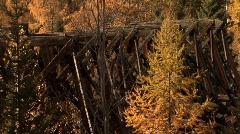 Myra canyon kvr tressle lorna 05 Stock Footage