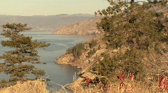 Okanagan lake 01 Stock Footage
