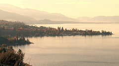 okanagan lake naramata 01 - stock footage