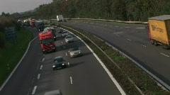 HD1080i German highway (Autobahn) traffic HD Version Stock Footage