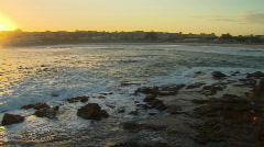 Bondi Beach Sunset Smooth Water Pan Stock Footage