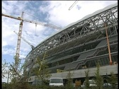 Construction Alianz arena stadium munich Stock Footage