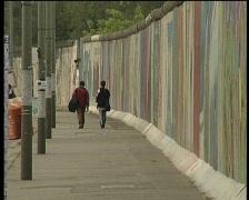 berlin wall  - stock footage