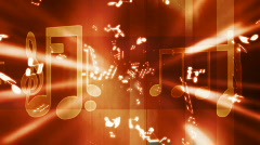 Rust colored music background Stock Footage