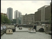 Stock Video Footage of berlin canal river