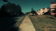 Suburban Steadicam Sidewalk Stock Footage