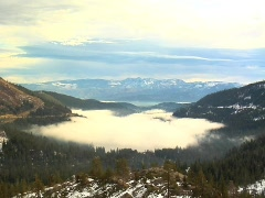 Fog over Lake - stock footage