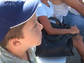 A little boy in the audience Stock Footage