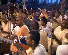 Hare Krishna Devotees Chanting Stock Footage