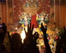 Hare Krishna Fire Ritual Pooja Stock Footage