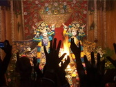 Stock Video Footage of Hare Krishna Fire Ritual Pooja