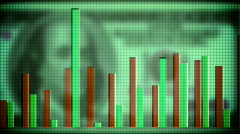money and charts - stock footage