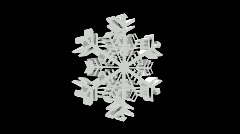 BIG SNOW FLAKE 3D - stock footage