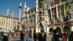 The Marienplatz in Munich, Germany Stock Footage