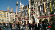 Stock Video Footage of Munich Marienplatz