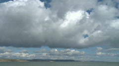 Time Lapse Huge Clouds over Dorset Jurassic Coast Stock Footage
