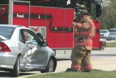 Accident Scene 5 Stock Footage