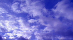 Time lapse sequence of morphing clouds  - stock footage
