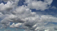 Time lapse sequence of morphing clouds  Stock Footage